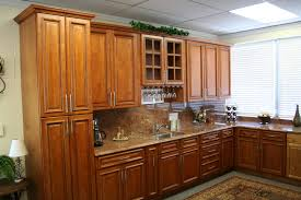 Full Size of Cabinets Oak Kitchen With Glass Doors Cherry Cabinet Ideas  Modern Maple Color Countertops ...