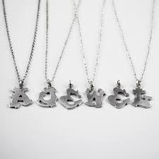 graffiti alphabet letter necklace