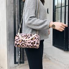 Designer Mini Crossbody Bag Designer Mini Pearl Women Handbag Women Leopard Crossbody Bag Chain Plush Bucket Bag Shoulder Messenger Dinner Clutch 2018 Luxury Bags Handbags