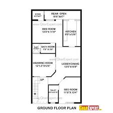 House Plan For 27 Feet By 50 Plot Plot Size 150 Square Yards  GharExpert