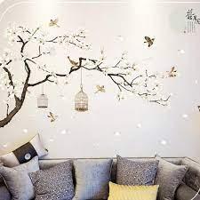 tree wall stickers birds flower