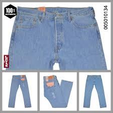 Details About Levis 501 Jeans Light Blue Stonewash Button Fly 100 Cotton Authentic Many Sizes