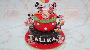 How To Make Birthday Cake Mickey Mouse 2 Layers Cara Membuat Kue