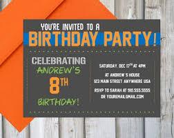 Birthday Invitations Printable Boy Birthday Invitations Etsy