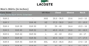 Puma Men S French Terry Jogger Size Chart Lacoste Golf Mens Shirts Size Chart Lacoste Men Lacoste
