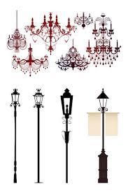 ornate chandelier lights silhouette