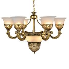 lights golden fixture glass shade white french style chandeliers