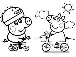 Marvelous Peppa Pig Drawing Coloring Pages Printable You Wont