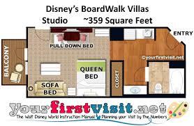 photo tour of a studio at disney s boardwalk villas