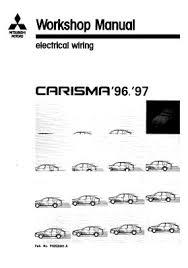 mitsubishi repair service manuals 1996 1997 mitsubishi carisma electrical wiring diagram phde9501 a