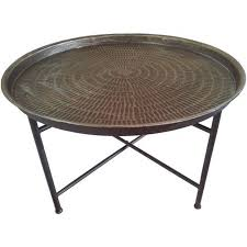 Round Coffee Table Bali Hammered Metal Round Coffee Table Cotterell Co Online