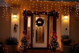 luxury front door with twin small christmas tree colorful f lights mixed hanging garland on roof ideas bedroom lighting ideas christmas lights ikea