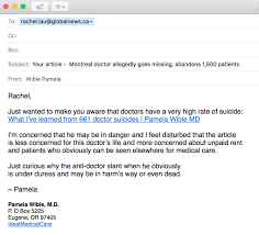 Email-reporter-doctor-bashing Md Email-reporter-doctor-bashing Pamela Wible Pamela