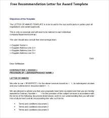 Air Force Recommendation Letter Sample Stunning Award Recommendation Letter Calmlife48