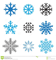 Different Designs Of Snowflakes Different Snowflakes Stock Vector Illustration Of Macro