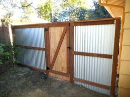 sheet metal fence landscape contemporary with border plantings corrugated plans landsc sheet metal