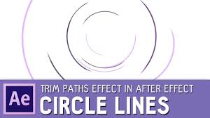 circle animation circle line animation with trim paths effect after effects tutorial