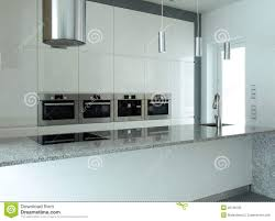 Kitchens With White Appliances White Kitchen With Built In Appliances Stock Photos Image 22786193