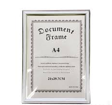 white certificate frame new white a4 document photo frame poster frame 21 x 29 7 cm signz