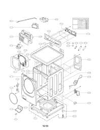 Lg front load washer parts diagram model wm hcca sears partsdirect