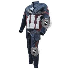 captain america civil war real leather full costume free