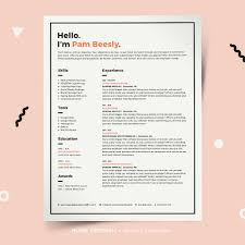 Resume Template Cover Letter For Word Pages Indesign Pc Or Mac