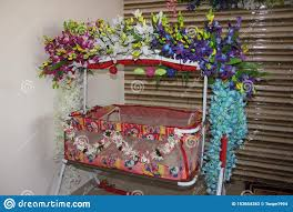 Baby Cradle Designs India Indian Baby Crib Small Baby Cradle Swing Stock Image