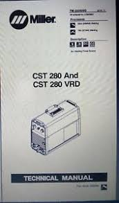 miller cst 280 and cst 280 vrd technical manual 2016 11 ebay Miller CST 280 Plug at Miller Cst 280 Wiring Diagram