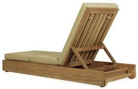 contemporary sun lounger wooden garden adjustable backrest poolside by john hutton