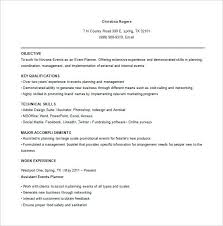 corporate event planner resume objective consultant example  event