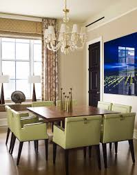 image of contemporary dining table sets with chandelier