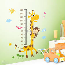 growth height chart stickers children s decorative stickers for kids bedroom nursery kids room wall decals kids room wall stickers from flylife
