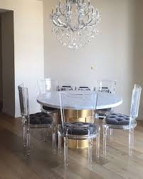 A decadent effect can be achieved in the home with clear acrylic