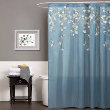 Navy And White Curtains Blue Bathroom Window Curtains