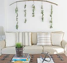 decorating ideas that look chic diy wall art eucalyptus branch inexpensive wall decor