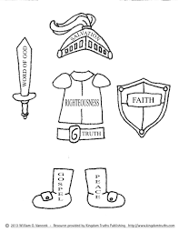 Bible Armor Of God Coloring Pages