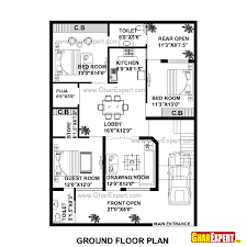 house plan for 35 feet by 50 feet plot plot size 195 square yards