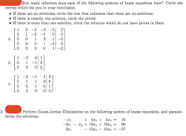 how many solutions does each of the following syst