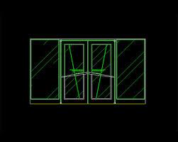 folding doors autocad block