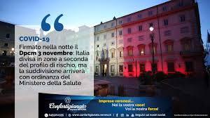 COVID-19 – (Aggiornamento: misure in vigore dal 6 novembre) Firmato nella  notte il Dpcm 3 novembre: Italia divisa in zone a seconda del profilo di  rischio - Confartigianato Verona