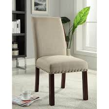 Homepop Linen Tan Nail Head Parsons Chairs Set Of By Homepop