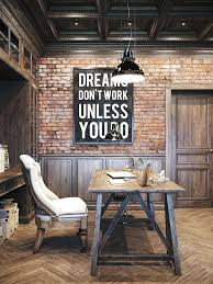 vintage office decorating ideas. Vintage Industrial Decor Idea This Office Design For A Private Residence Living Decorating Ideas I