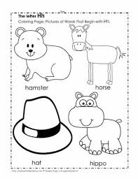 Phonics is a method of teaching kids to learn to read by helping them to match the sounds of letters, and groups of letters, to distinguish words. The Letter H Coloring Pictures Worksheets