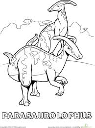 When the online coloring page has loaded, select a color and start clicking on the picture to color it in. Dig Into Dinosaurs 15 Dino Coloring Pages Education Com