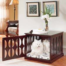Dog crate home furniture: