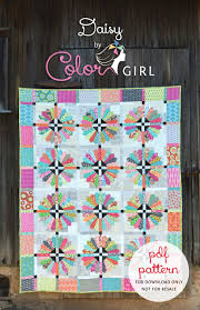 Brand New Pattern, Daisy, is Here! - Color Girl Quilts by Sharon ... & Daisy Quilt pattern by Color Girl, dresden plate quilt Adamdwight.com