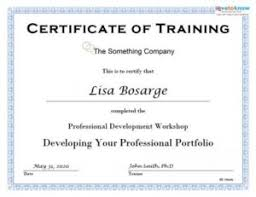 Certification Template Template For Training Certificate Rome Fontanacountryinn Com