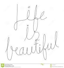 La Vie Est Belle Citation Inspirée Illustration Stock Illustration