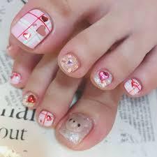 ネイルデザイン フット ピンク