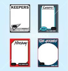 photo card maker templates hockey card template from starr cards hockey card maker sports